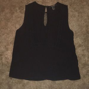 Only worn once! Forever21 contemporary black tank
